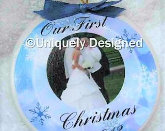 Wedding Ornament Christmas ornament wedding gift Our First Christmas