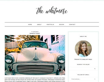 "Blogger Template, Blog Template, Blog Design - ""Whitmore 