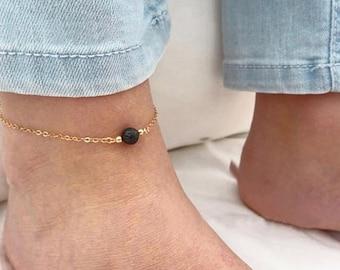 Minimalist Aromatherapy Anklet or Bracelet