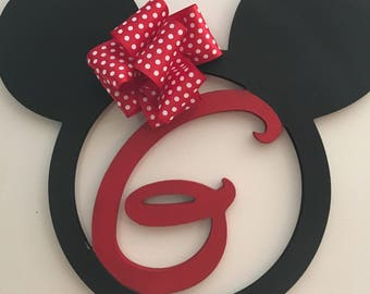 Mickey ears monogram wreath