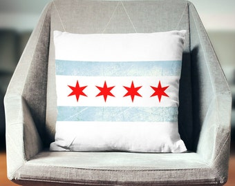 Chicago Pillow   Illionis Pillow   Chicago Flag   Chicago Decor   Chicago Throw Pillow   Chicago Flag Pillow   Chicago Gifts