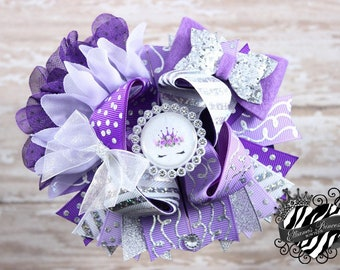 Unicorn Hair Bow - One of a Kind Bow - Over the Top Bow - Layered Boutique Bow - Toddler Hair Bows - Girls Hair Bows - 6 Inch Hair Bow