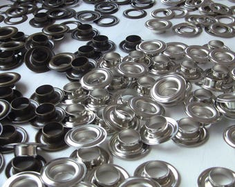 Eyelets 15 / 30 X 9 Bronze or silver with Contre-Rondelle inside 30mm, 15mm, height 9mm inside diameter