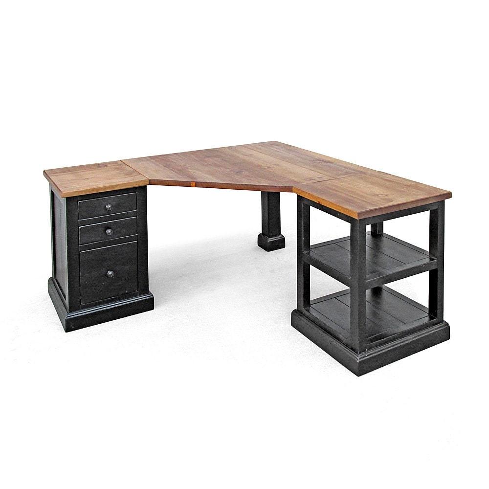 Desk Corner Desk Reclaimed Wood File Cabinet Bookshelf