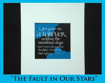 Calligraphic Quote from Fault in Our Stars