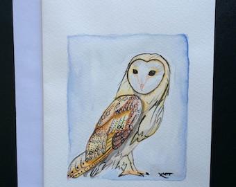 Greeting Card Original Owl