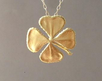 Gold Four Leaf Clover Necklace also in Silver
