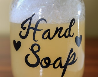 Vinyl decals for your hand made soaps and lotions