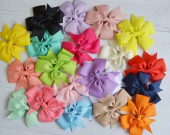 GRAB BAG of 5 pinwheel hair clips, toddler hair clips.