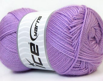 balls of yarn in color lilac brand ICE 100grs