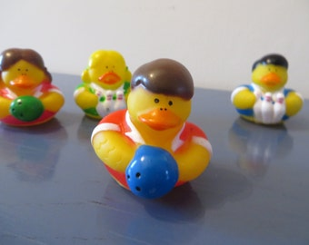 Lady Bowler rubber ducks -  Great for your bowling group!