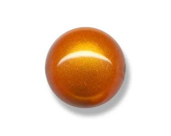 1 lot 2 beads 20mm round magic ORANGE acrylic bead painted and varnished
