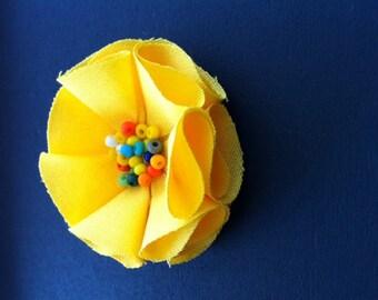 Yellow Daisy Brooch