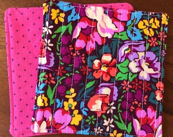 Quilted drink coasters -- Anna Maria Horner Floral
