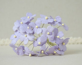 18  mm  / 20  Purple   Mulberry Paper  Flowers