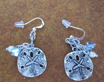 Cute Sand Dollar Dangle Earrings