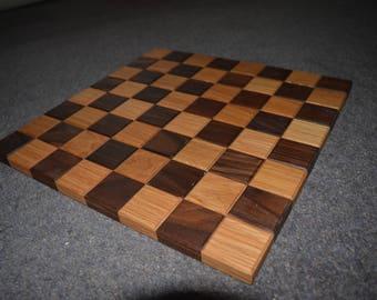 Oak and Walnut Chessboard