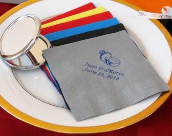 150  Personalized luncheon napkins wedding napkins briday shower baby shower custom printed napkins