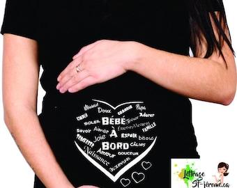 FUNNY maternity shirt love word 372