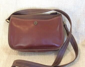 Genuine vintage MARK CROSS equestrian brown leather shoulder bag purse crossbody