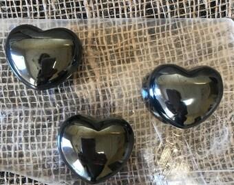 1.5 inch Hematite Hearts