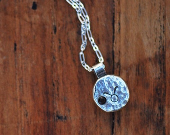 Element Taurus Zodiac Necklace- Sterling Silver