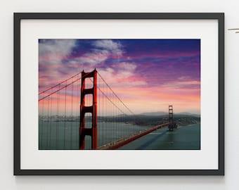 Golden Gate Bridge San Francisco California Digital Photo Digital Background