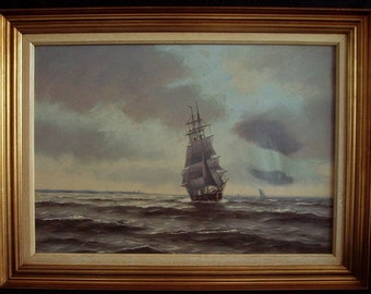 Listed Artist Seascape Tall SHip