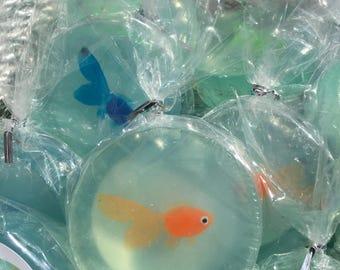 Fish soap in a bag, Fish Soap, Fish Soap Bag, Glycerin Soap, Glycerin Soap Bar, Kids Soap, Novelty Soap,  Stocking Stuffers, State Fair