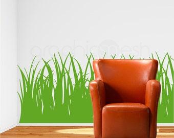 Tall GRASS WALL DECALS vinyl stickers - Interior decor