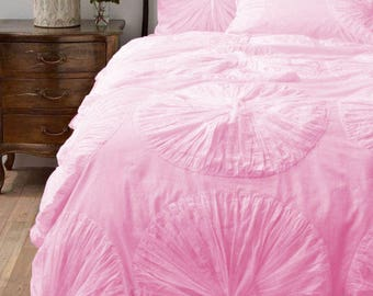 1 Piece Waterfall Flower Ruffle Duvet Cover 800TC Cotton All Size & Color