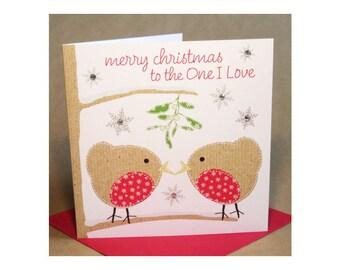 Christmas One I Love Card  (jewelled)