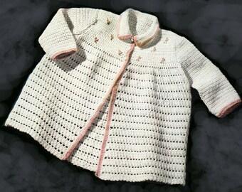 Baby Crochet Pattern, Crochet Baby Sweater Pattern, Crochet Baby Booties Pattern, INSTANT Download Pattern PDF (1333)