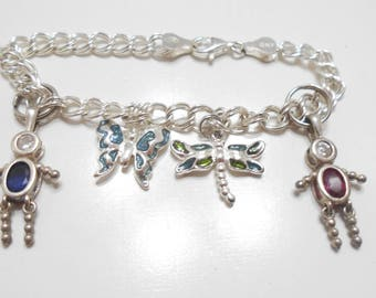 Gorgeous Sterling Charm Bracelet (2260) Italy