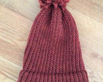 Slouchy winter hat