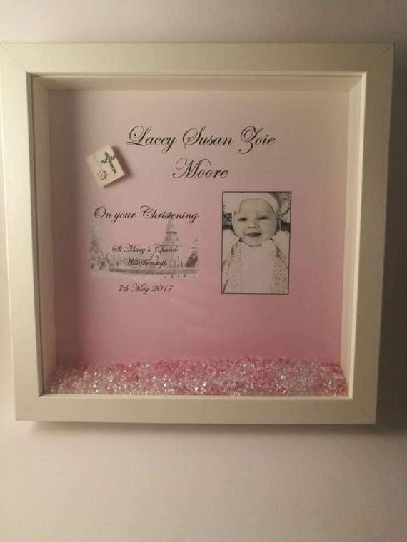 Personalised Christening Frame, christening frame, christening gift ...