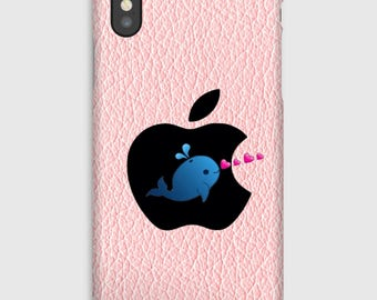 Case for iPhone X 8, 8 +, 7, 7 +, 6s, 6, 6s +, 6, 5 c, 5, 5s 5SE, 4s, 4 blue whale