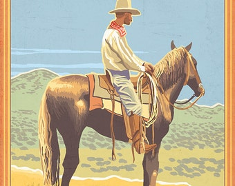 Cowboy (Side View) - Antelope Island State Park (Art Prints available in multiple sizes)