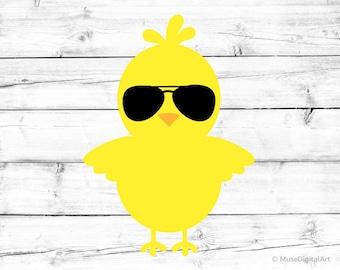 Easter Chick Svg Boy Easter Svg Baby Chicken Svg Boy Chick Svg Sunglasses  Svg Hip Hop