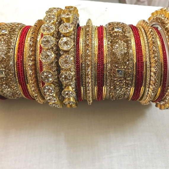 bangles red traditional golden indian jewellery shoppingover