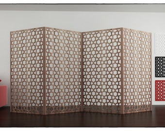 TEHERAN SCREEN PANEL Template file Arabesque room divider star Arabic designs arabesques patterns wood pattern islamic wall panel plasma