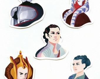 Women of Star Wars Sticker Set
