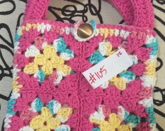 Crocheted Granny Square Purse #105