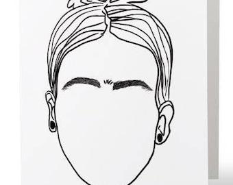 """Frida Kahlo Card 5.5""""x5.5"""""""