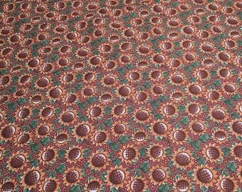 Harvest Sunflowers Cotton Fabric