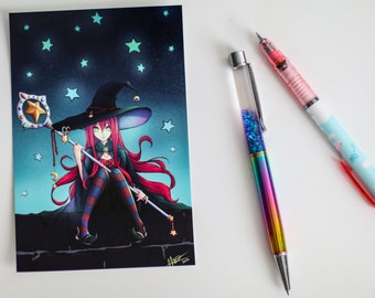 Starlight Witch - A6 Digital Print