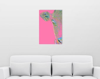 Acrylic Wall Art - Pink Cow - Unique, Modern & Colourful
