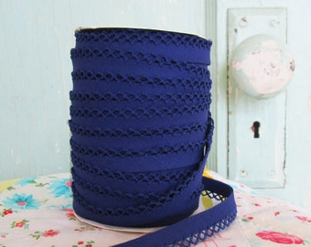 Navy Blue Crochet Edge Bias  Tape (No. 47)
