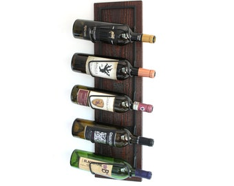 Rustic Wine Rack | Wine Bottle holder | Wood Wine Rack Wall Mounted | Wine Storage Organizer Gift