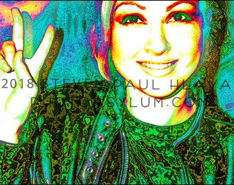 South Beach POParazzi - Cyndi Lauper - Surreal Celebrity Digital Portrait Signed Fine Art Photography